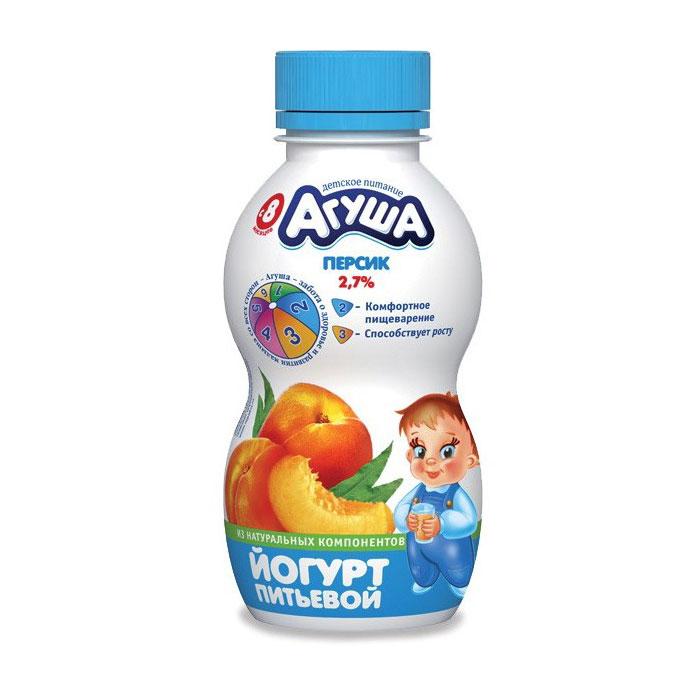 Йогурт Агуша 200 мл Персик (с 8 мес)<br>
