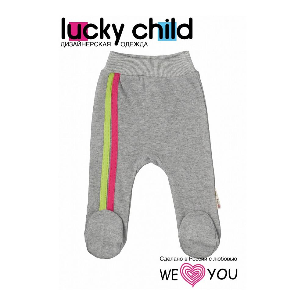 Ползунки с лампасами Lucky Child коллекция Спортивная линия Размер 80<br>