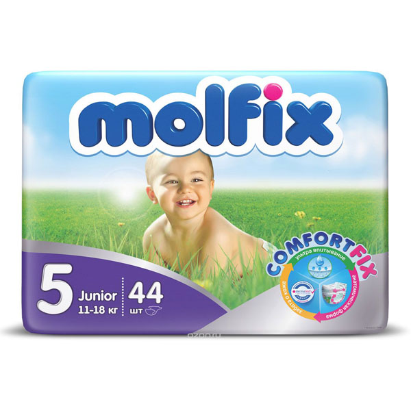 Подгузники Molfix Junior 11-18 кг 44 шт (5)<br>