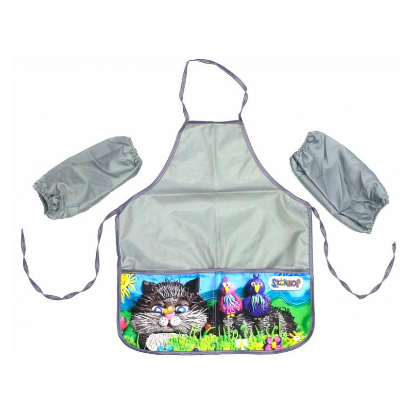 Фартук Silwerhof для уроков труда Юбилейная коллекция для детей 6-12 лет с нарукавниками 2 кармана<br>