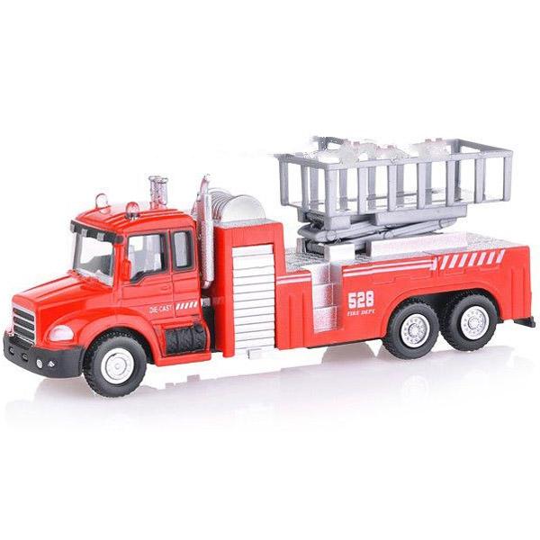 Машинка Autotime LIFT FIRE TRUCK пожарная с подъемником 1:48<br>