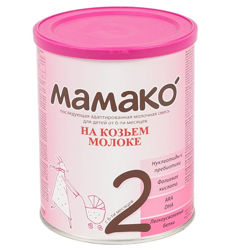 Мамако молочная смесь на основе козьего молока 400 гр №2 (с 6 до 12 мес)<br>