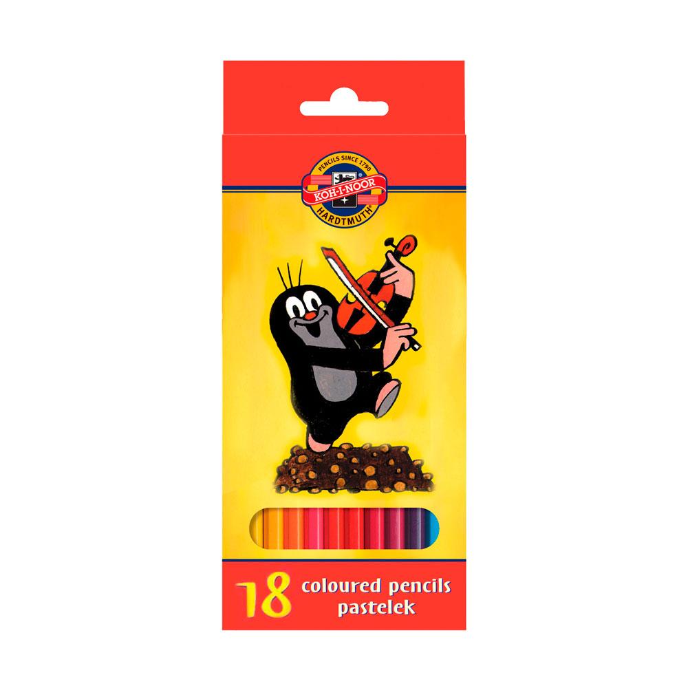 Набор карандашей цветных KOH-I-NOOR КРОТ 18 цветов<br>