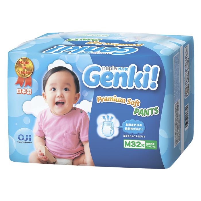 Трусики Nepia Genki 7-10 кг 32 шт (M)<br>
