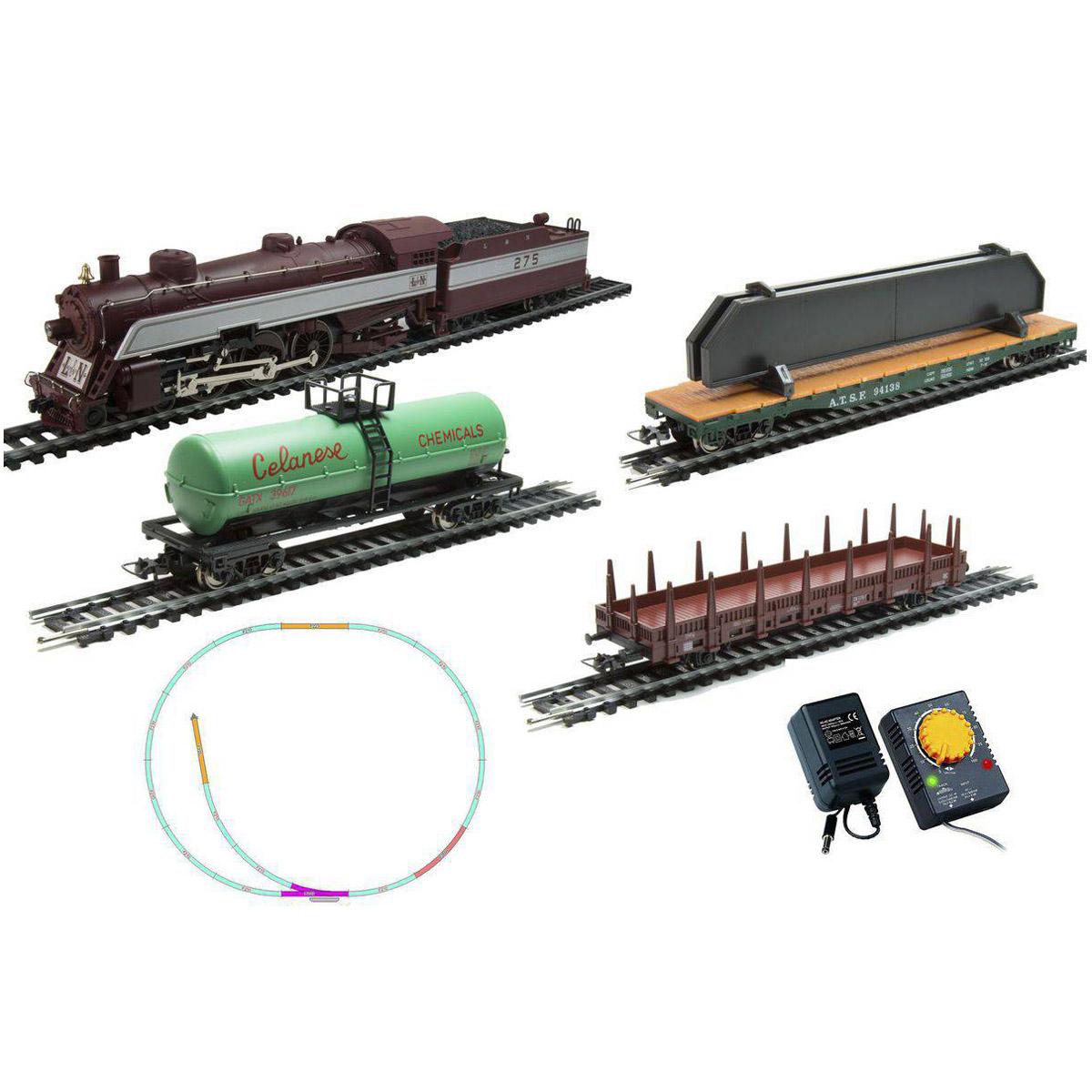 Стартовый набор Mehano Prestige паровоз  L&amp;amp;N (4-6-2) с 3-мя вагонами (коричневый)<br>