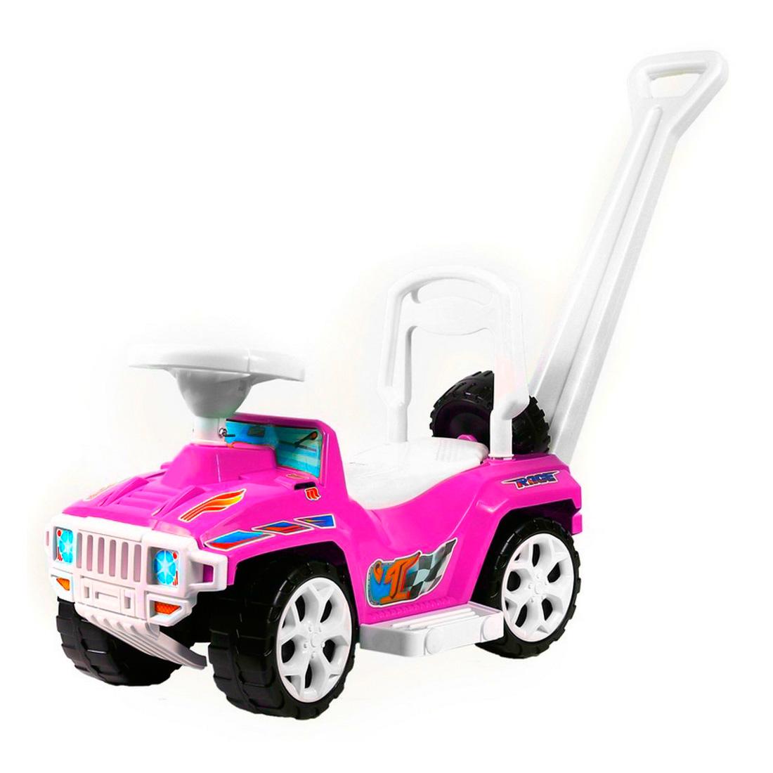 Каталка RT RACE MINI Formula 1 ОР856 с родительской ручкой Розовый<br>