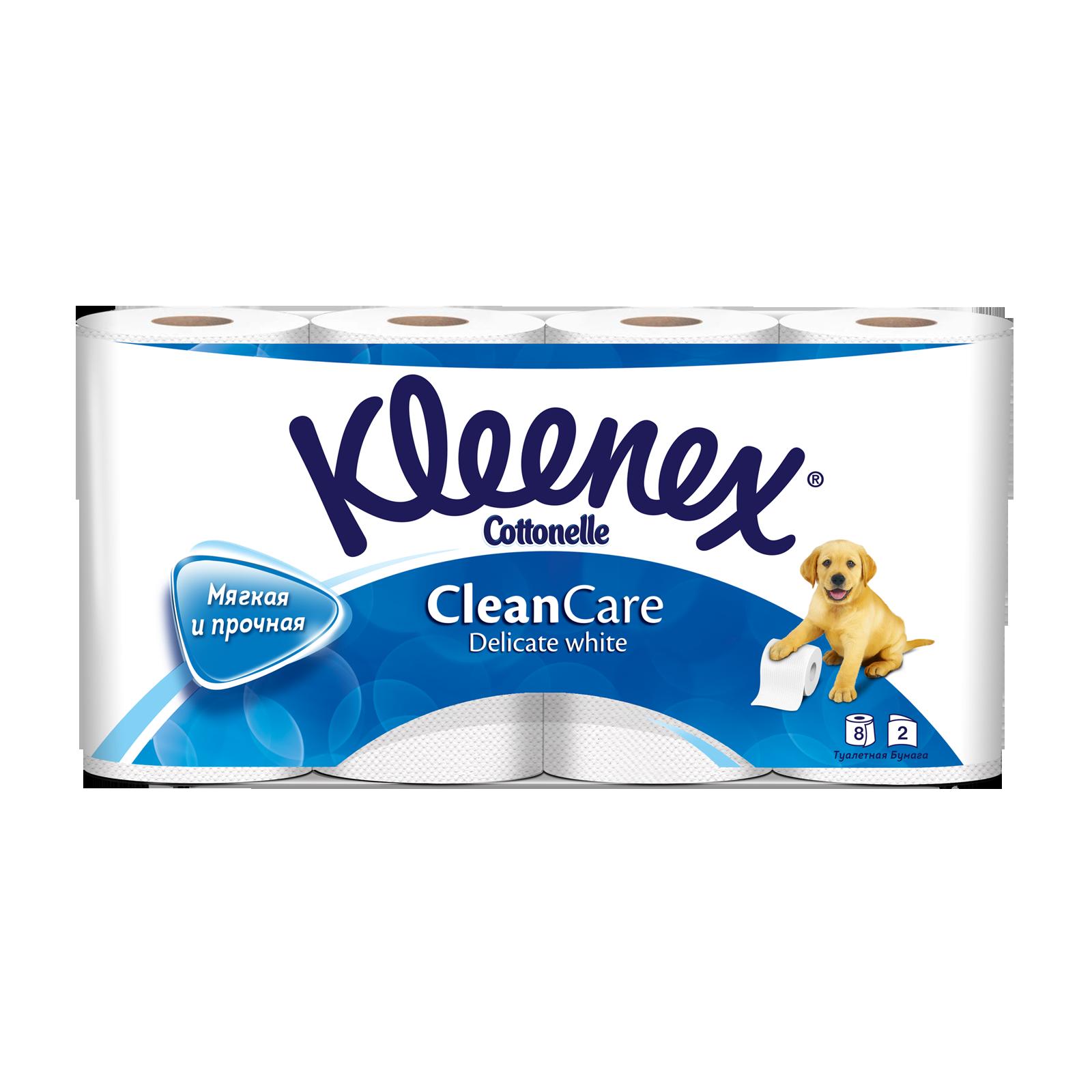 Туалетная бумага Kleenex деликат (2 слоя) 8 шт