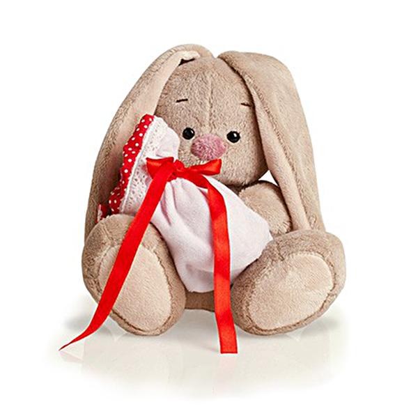Мягкая игрушка Зайка Ми с мешочком 15 см