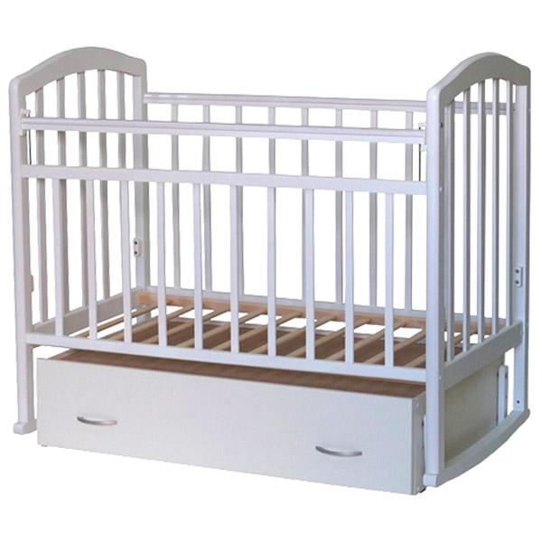 Кроватка Антел Алита-4 маятник поперечнного качания, закрытый ящик Белый<br>