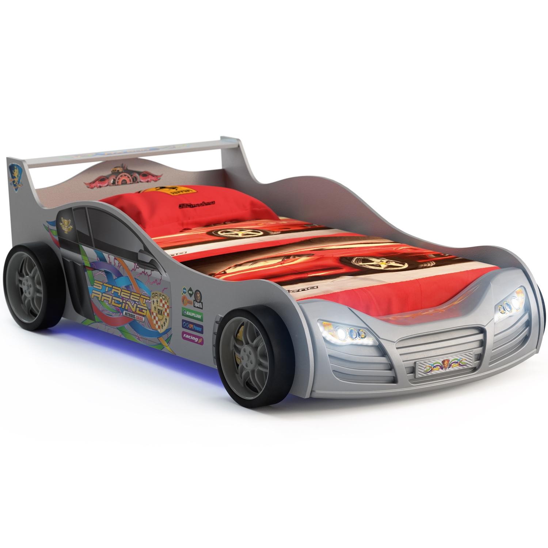 Кровать-машинка Grifon Style R800 Mini night light Серебристый металлик<br>