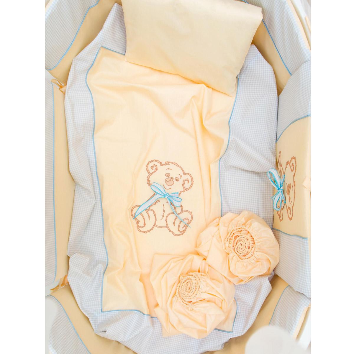 Комплект в кроватку Valle 7 предметов Peekaboo голубой<br>