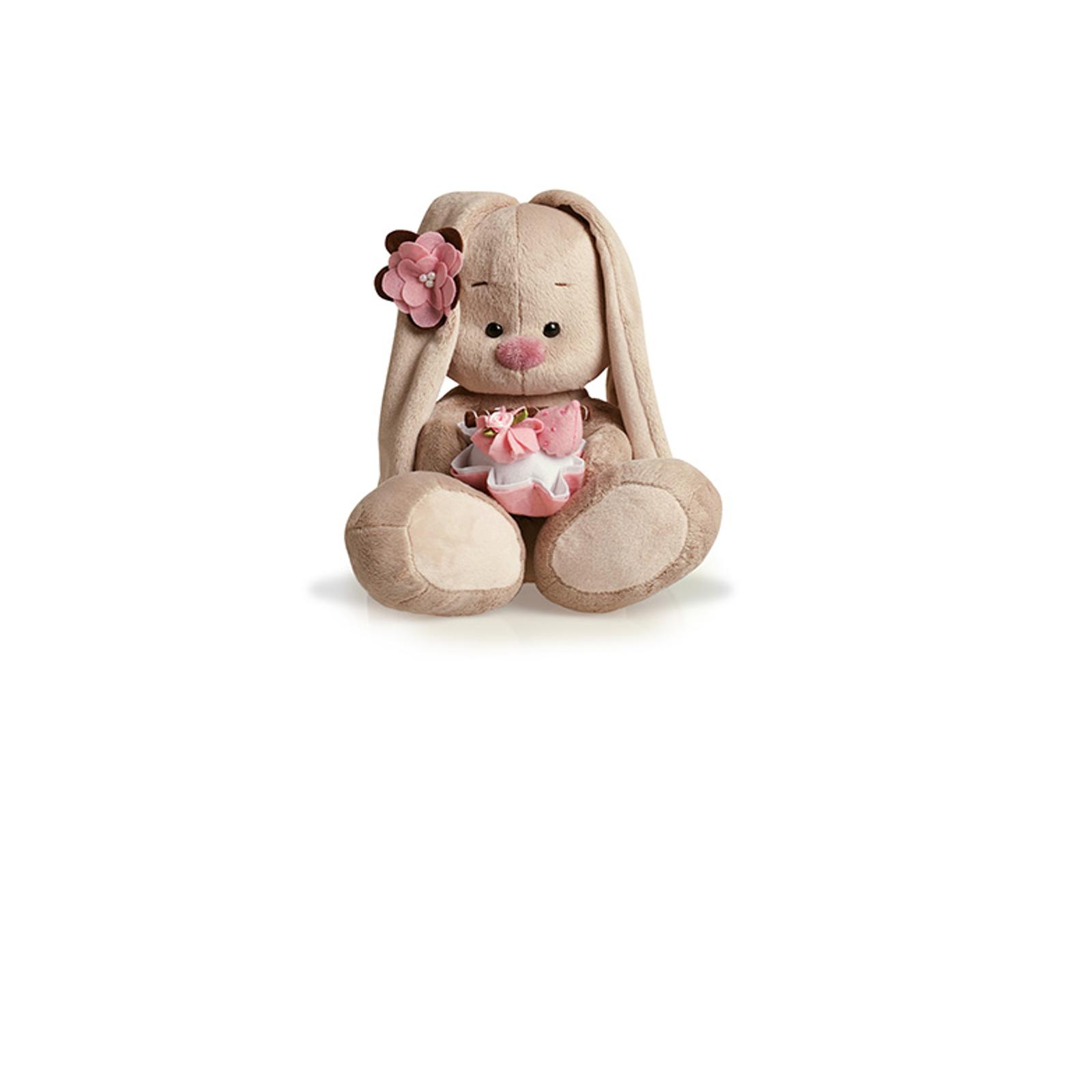 Мягкая игрушка Зайка Ми с пирожным 18 см