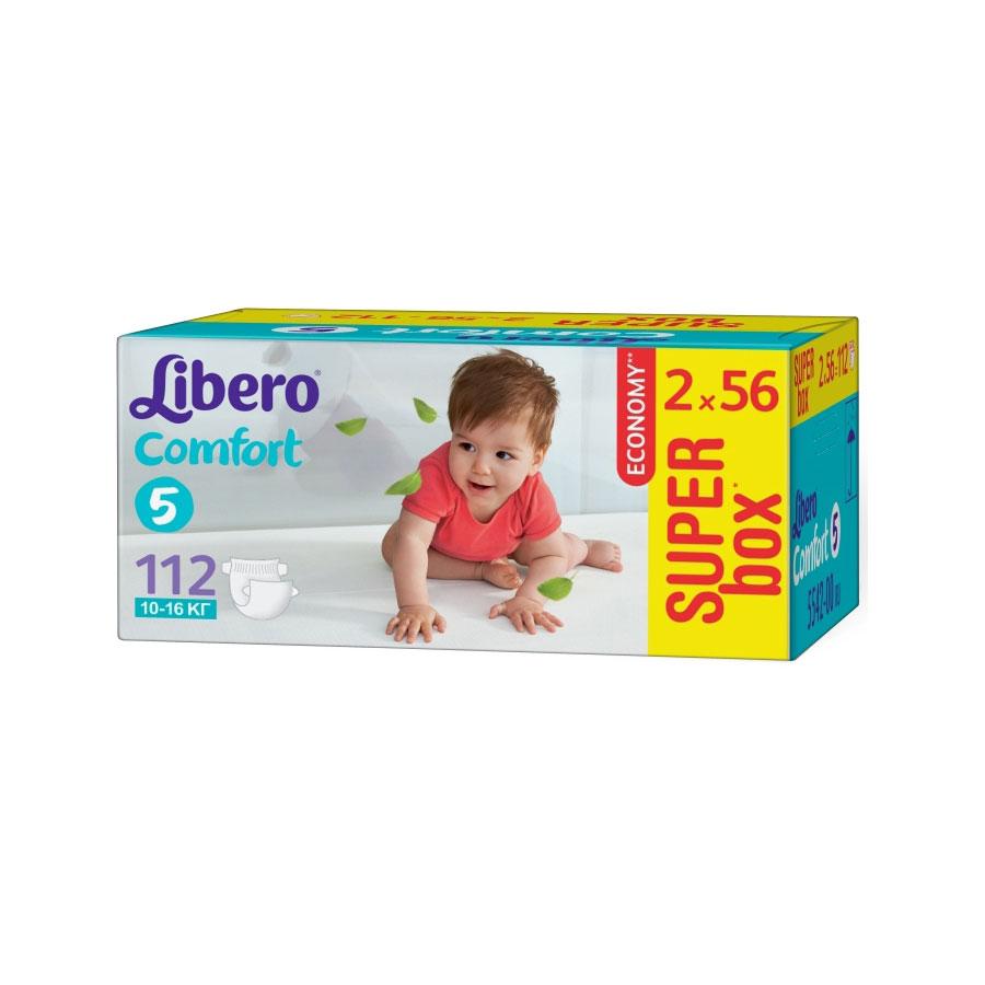 Подгузники Libero Comfort Maxi+ 10-16 кг (112 шт) Размер 5<br>