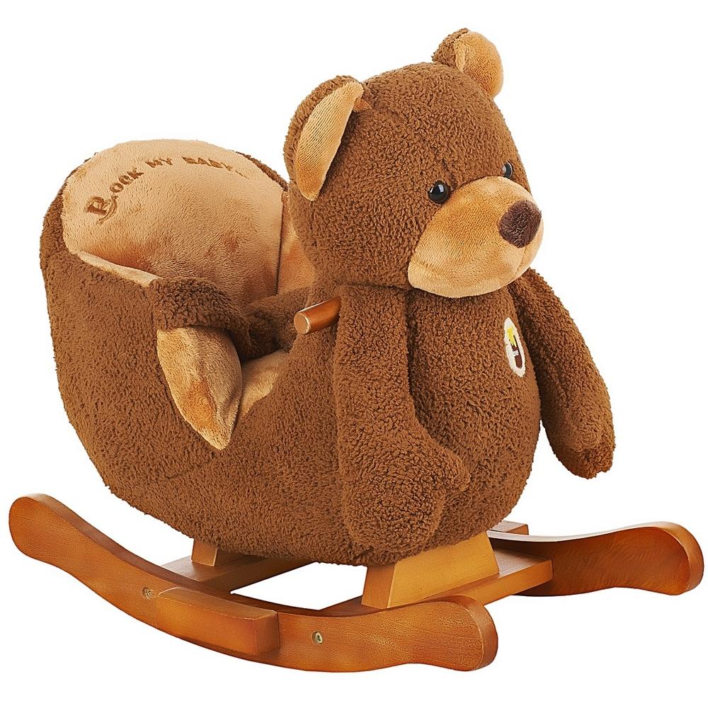 Качалка Rock My Baby меховая Медведь JR2522H<br>