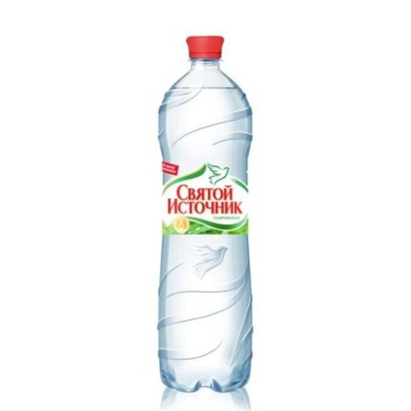 Вода минеральная Святой Источник 1,5 л. Газированная