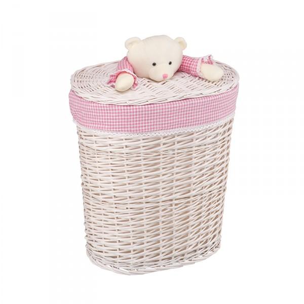 Корзина бельевая Natural Hause Медвежонок Розовый L<br>