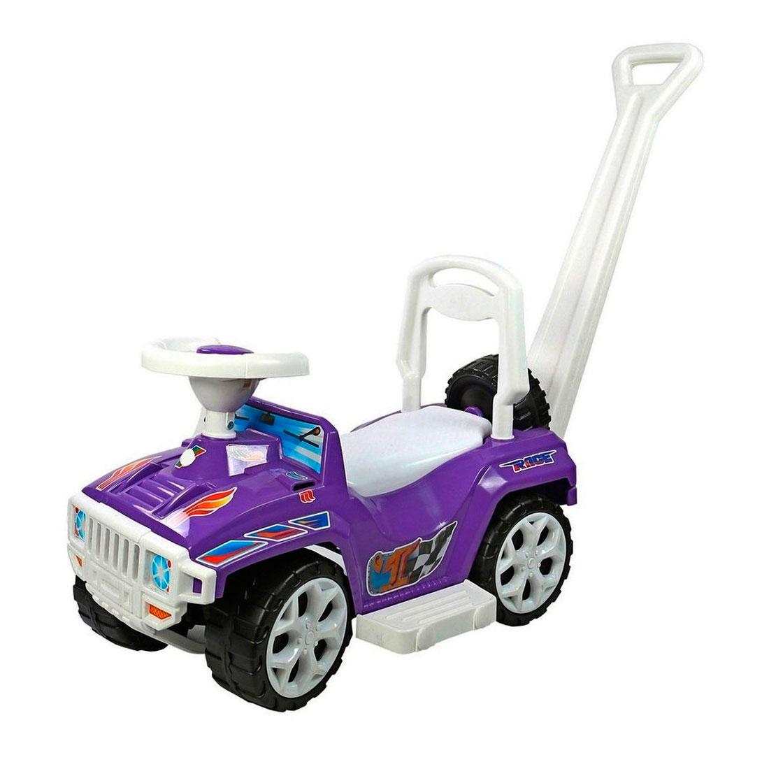 Каталка RT RACE MINI Formula 1 ОР856 с родительской ручкой Formula 1 Фиолетовая<br>
