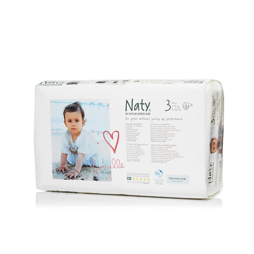Подгузники Naty 4-9 кг (52 шт) Размер 3<br>