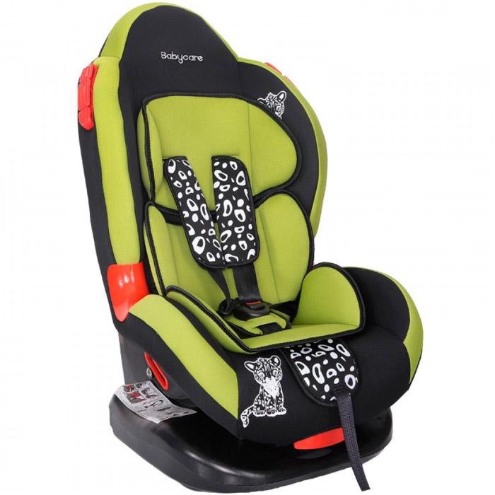 Автокресло Baby Care BC-02 Люкс Леопардик Зелёный<br>