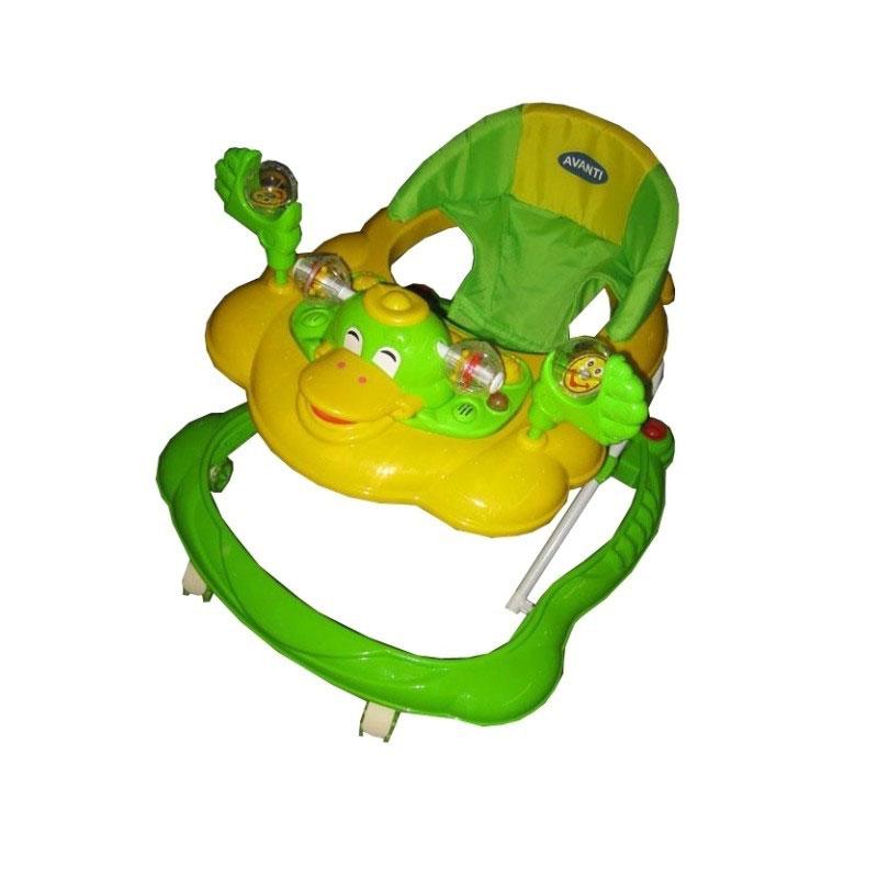 Ходунки Avanti Duck Желтые с зеленым