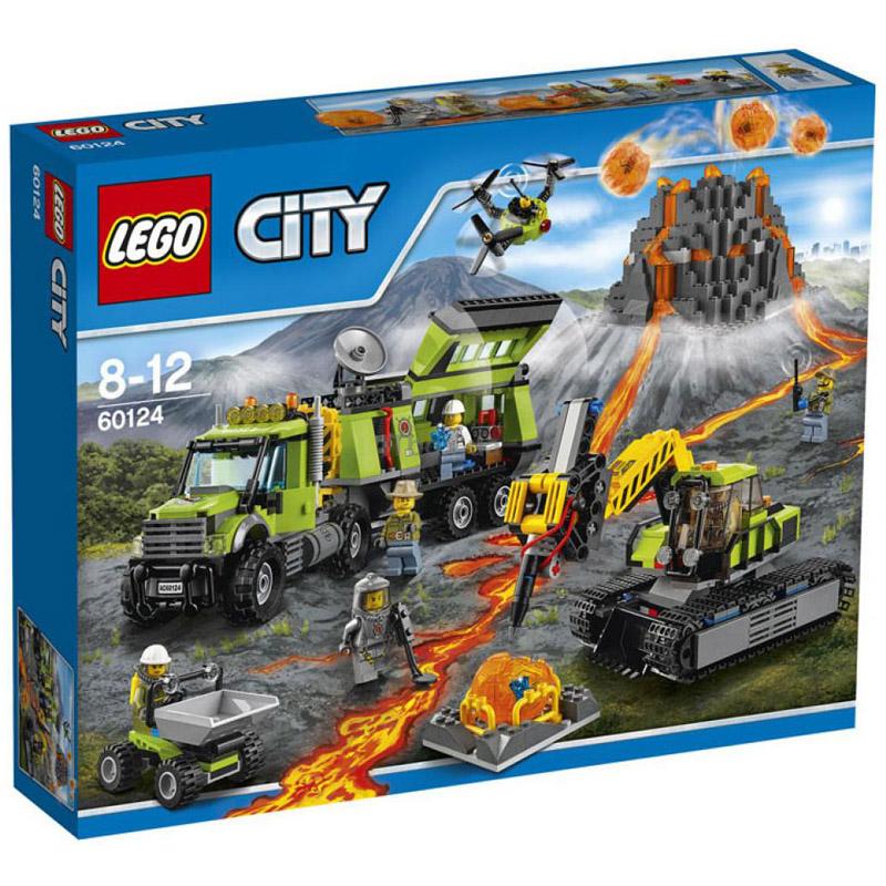 Конструктор LEGO City 60124 База исследователей вулканов<br>