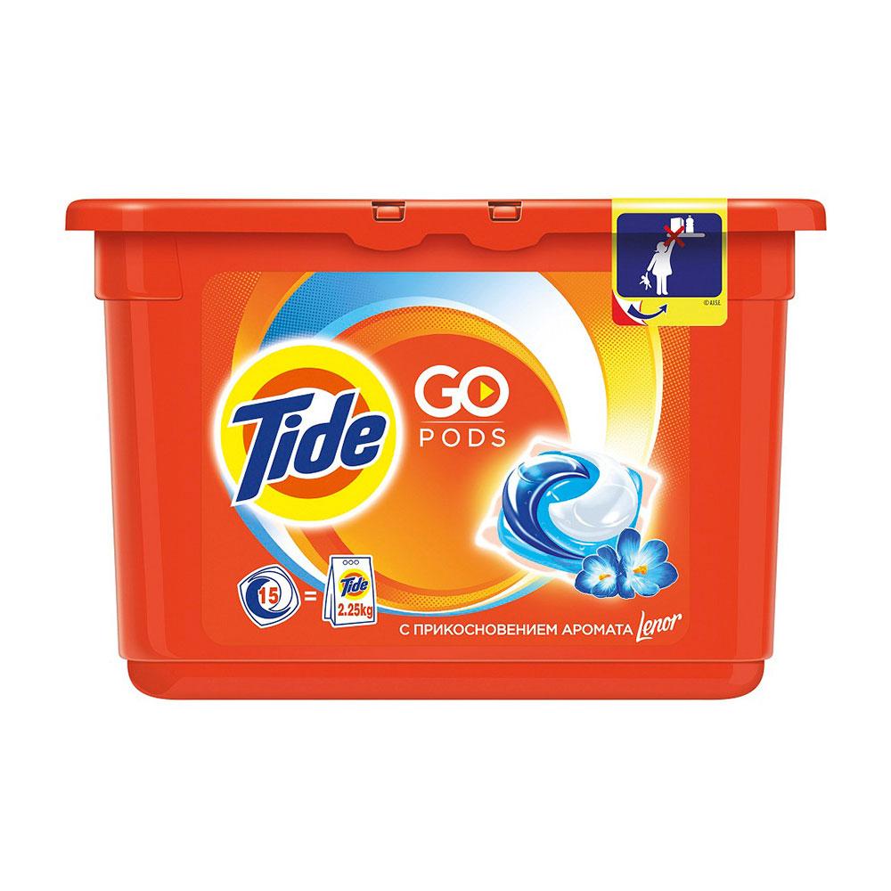 Капсулы Tide для стирки C ароматом Lenor 15 х 25,2гр<br>