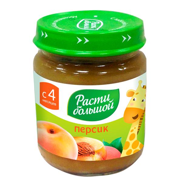 Пюре Расти Большой фруктовое 100 гр Персик (с 4 мес)<br>