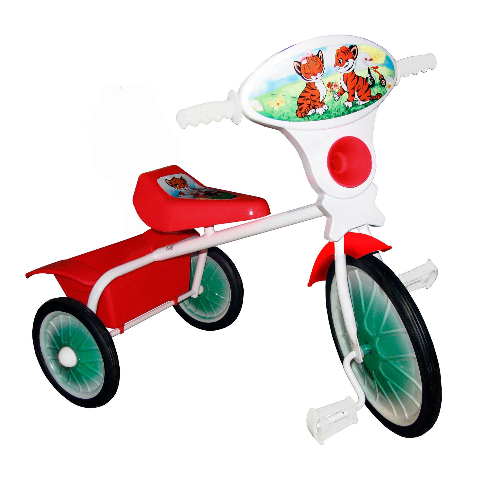 Велосипед трехколесный Малыш с кузовком Красный<br>