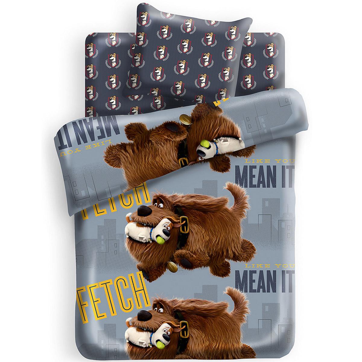 Комплект постельного белья детский 1,5 хлопок Непоседа Тайная жизнь домашних животных Макс и Дюк<br>