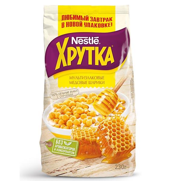 Готовые завтраки Nestle 230 гр Медовые Шарики ХРУТКА<br>