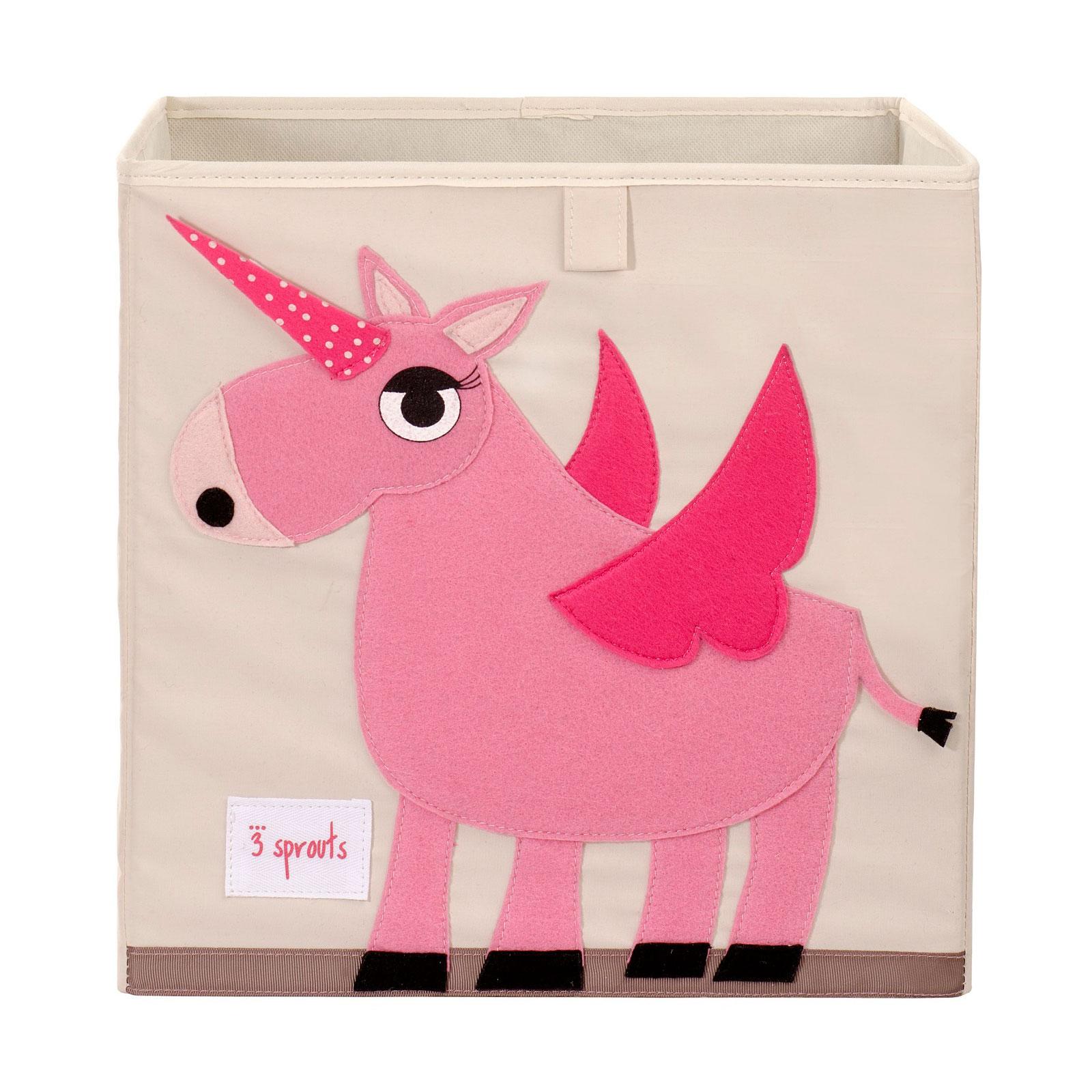 Коробка для хранения 3 Sprouts Единорог (Pink Unicorn) Арт. 67391<br>