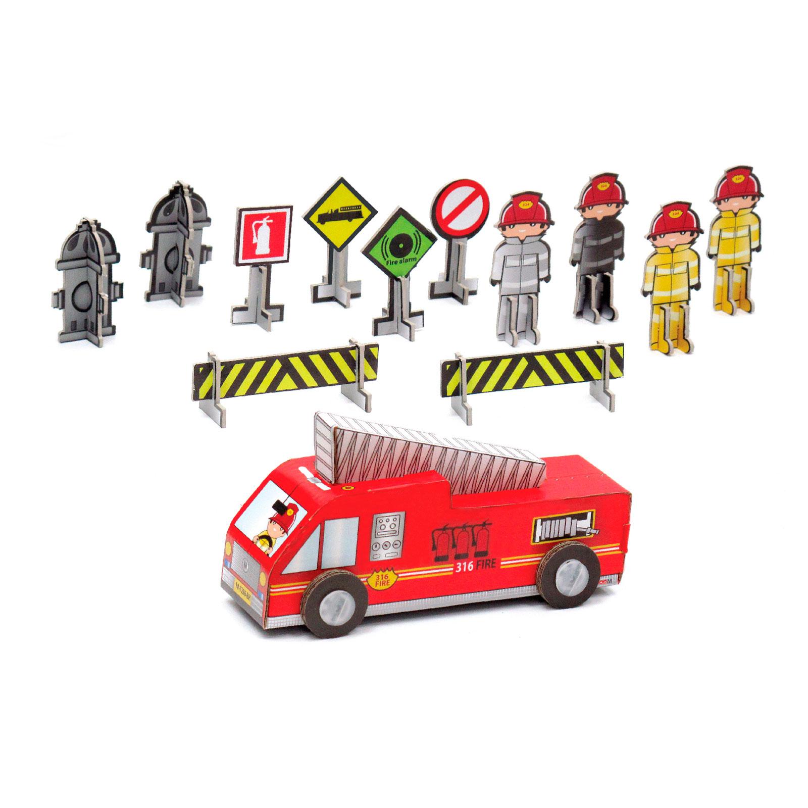 Игрушка из картона Krooom Пожарная часть Дилан Арт. k-210<br>