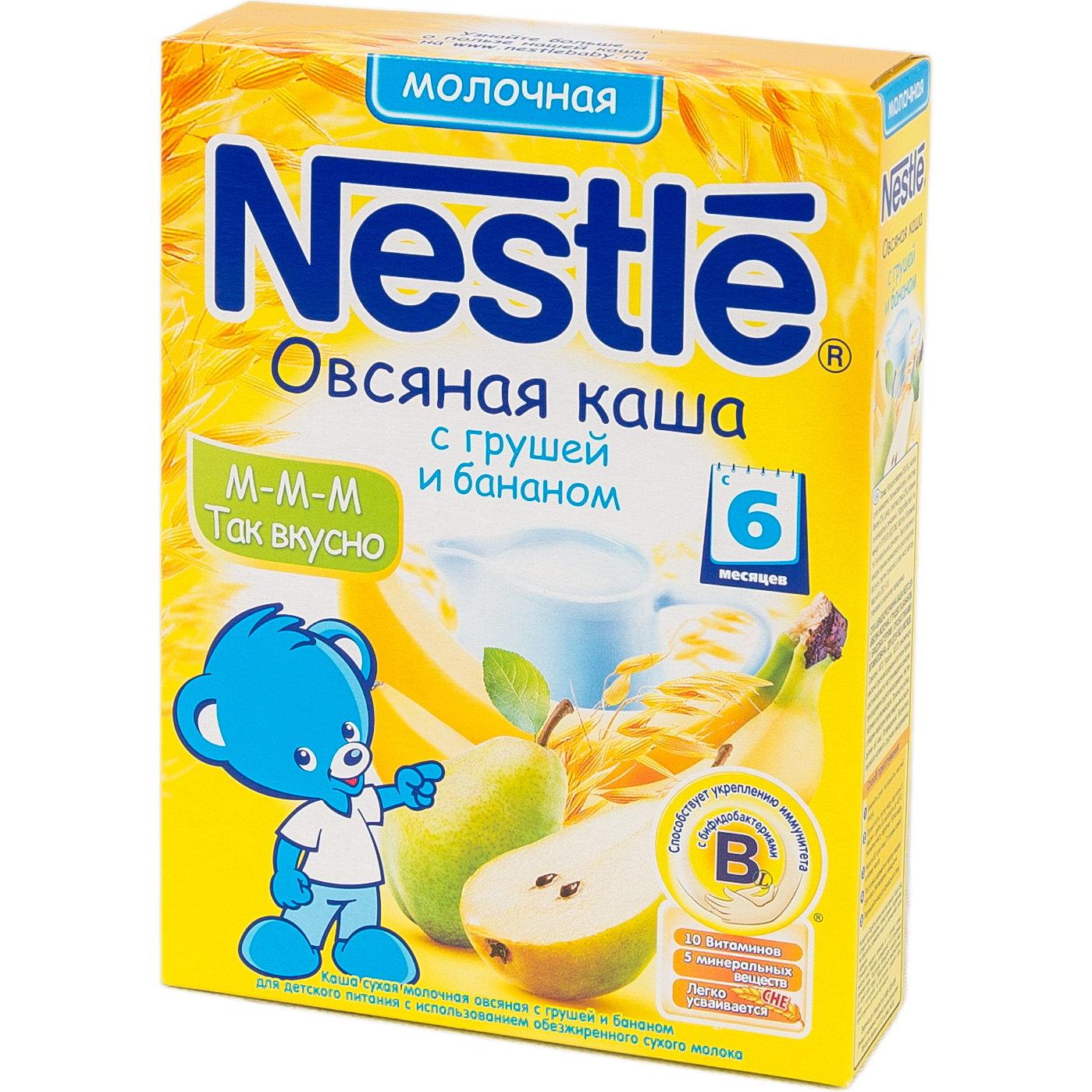 Каша Nestle молочная 250 гр Овсяная с грушей и бананом (с 6 мес)<br>