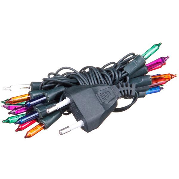 Гирлянда электрическая Winter Wings 20 ламп, прозрачная, цветная, 1.1 + 1.5 м<br>