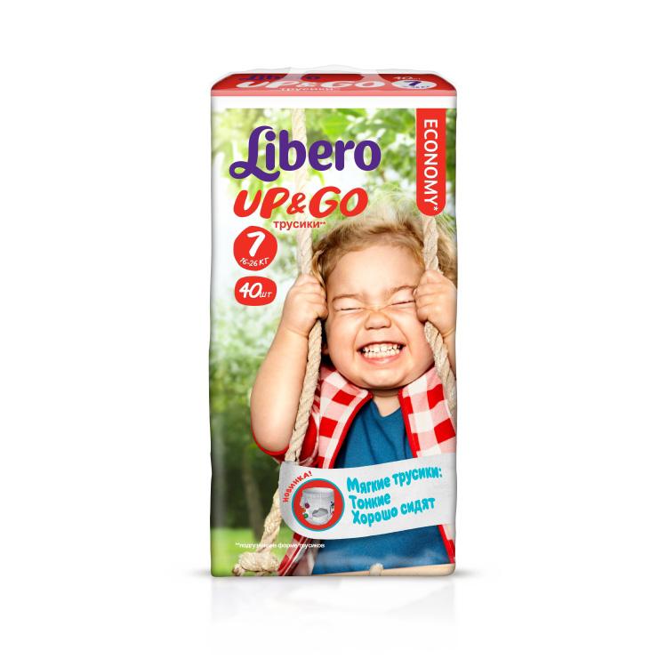 Трусики Libero Up & Go Extra Large+ 16-26 кг (40 шт) Размер 7