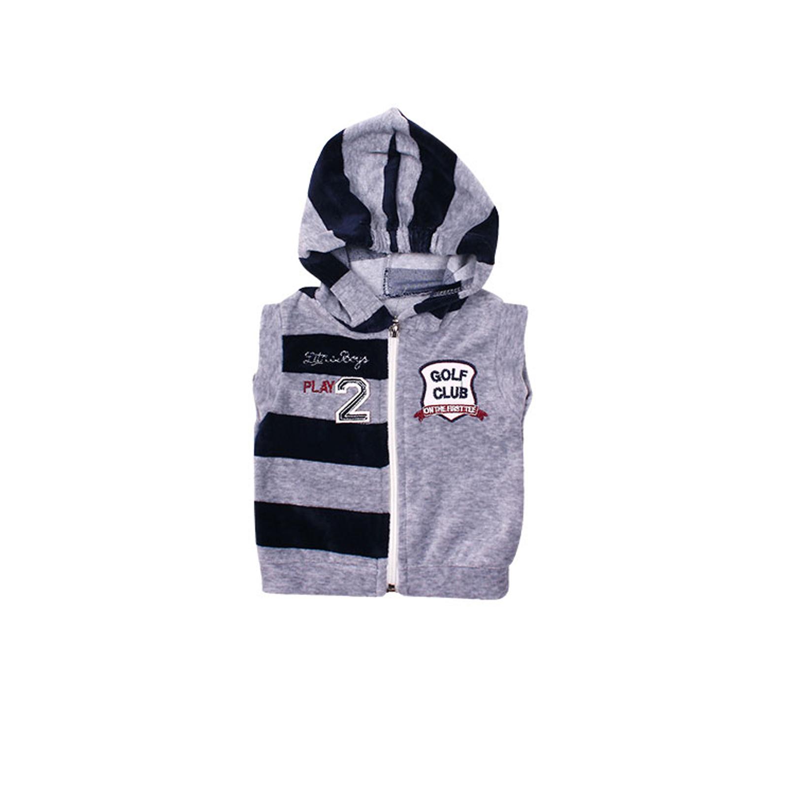 Комплект одежды Estella для мальчика, брюки, толстовка, жилет, цвет - Синий Размер 68