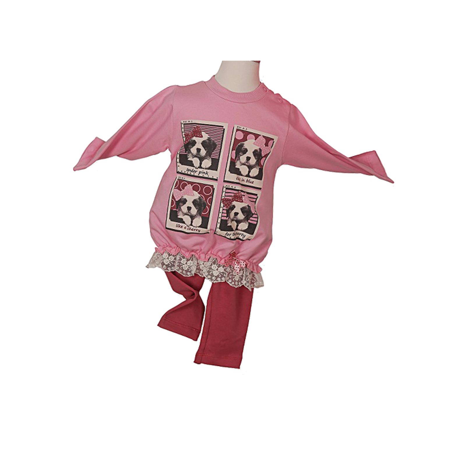 Комплект одежды Estella для девочки, брюки, туника, цвет - Розовый Размер 68