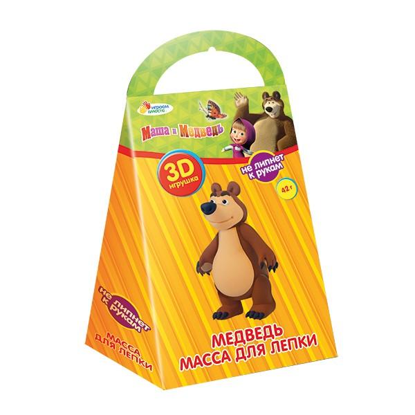 Набор для лепки Multiart Сделай фигурку медведя Маша и медведь<br>