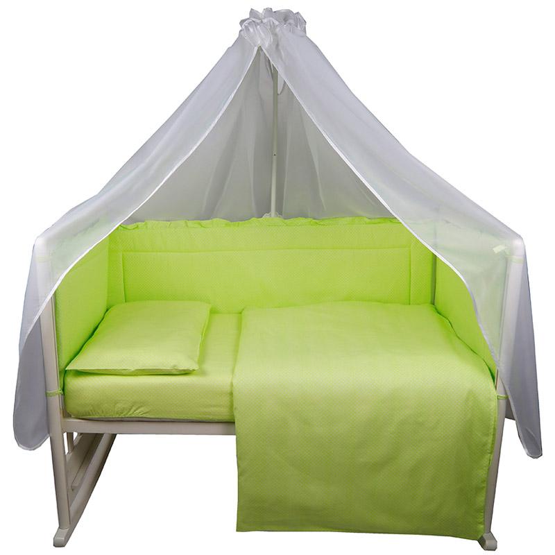 Комплект в кроватку Bambola 7 предметов Карамельки Зеленый<br>