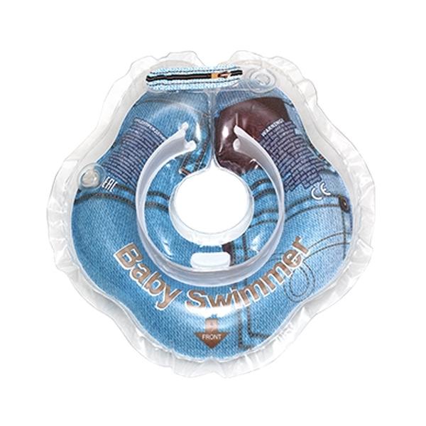 Круг на шею Baby Swimmer с 0 мес (3-12 кг) Джинса<br>