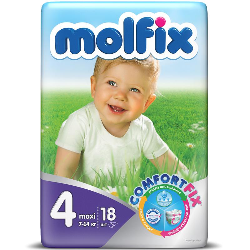 Подгузники Molfix Comfort Fix Maxi 7-14 кг. (18 шт.) Размер 4<br>