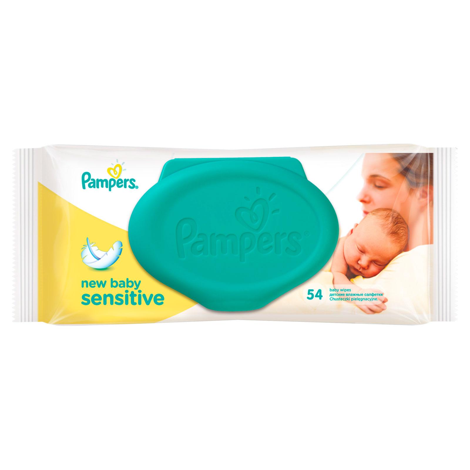 Салфетки влажные Pampers Sensitive New Baby 54 шт