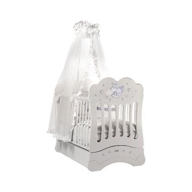 Кроватка Feretti Etoile FMS маятник 125x65 Bianco/White
