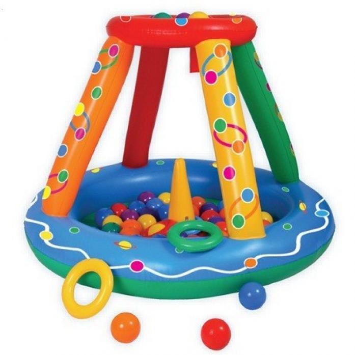 Сухой бассейн Upright надувной Игровой центр + 50 шаров<br>
