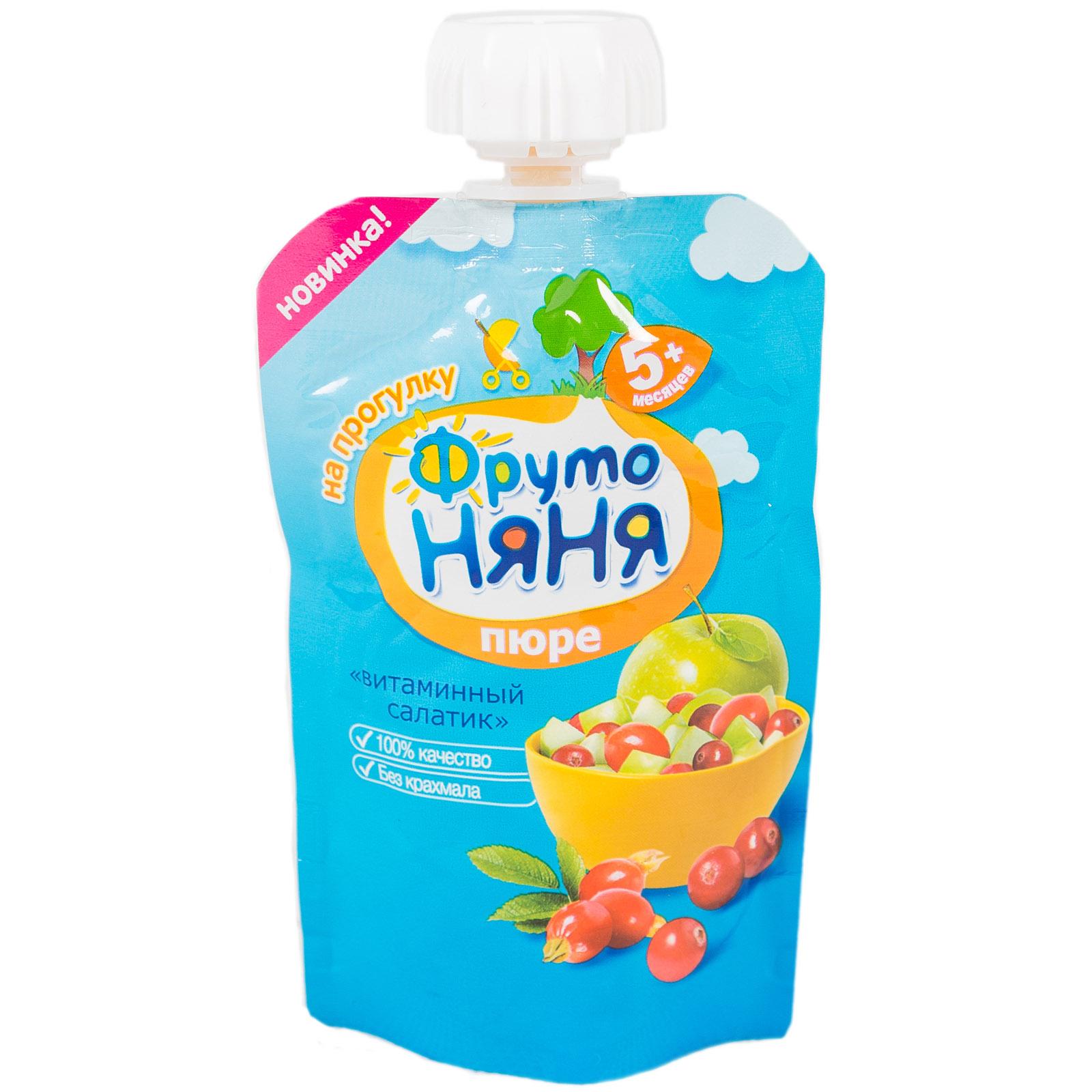 Пюре Фрутоняня фруктовое 90 гр Витаминный салатик (с 6 мес)<br>