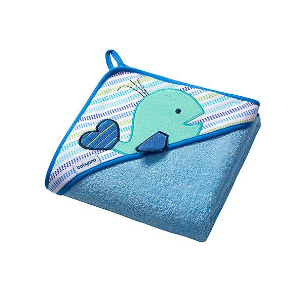 Полотенце BabyOno Soft 100х100 см Голубое<br>