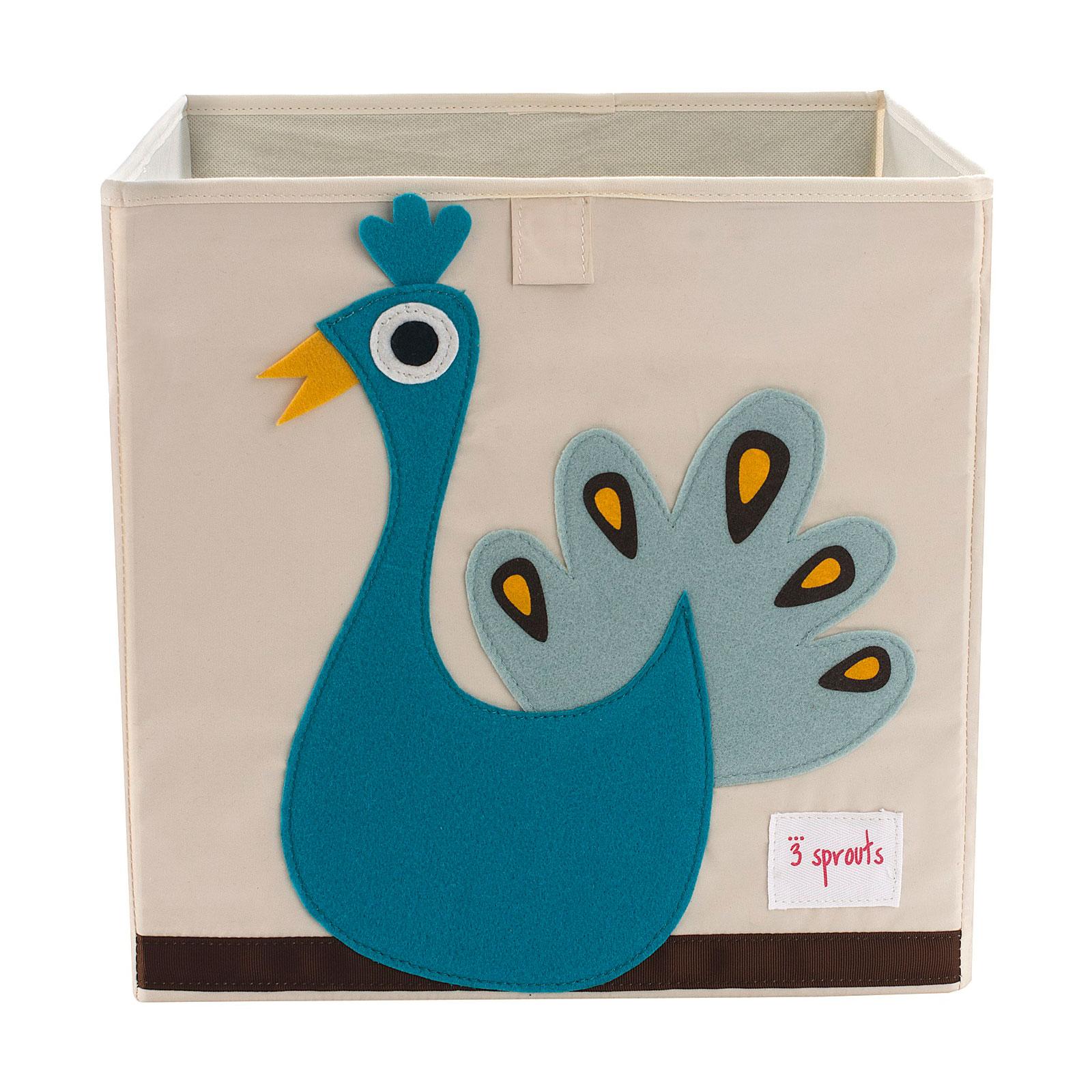 Коробка для хранения 3 Sprouts Павлин (Blue Peacock) Арт. 67641<br>