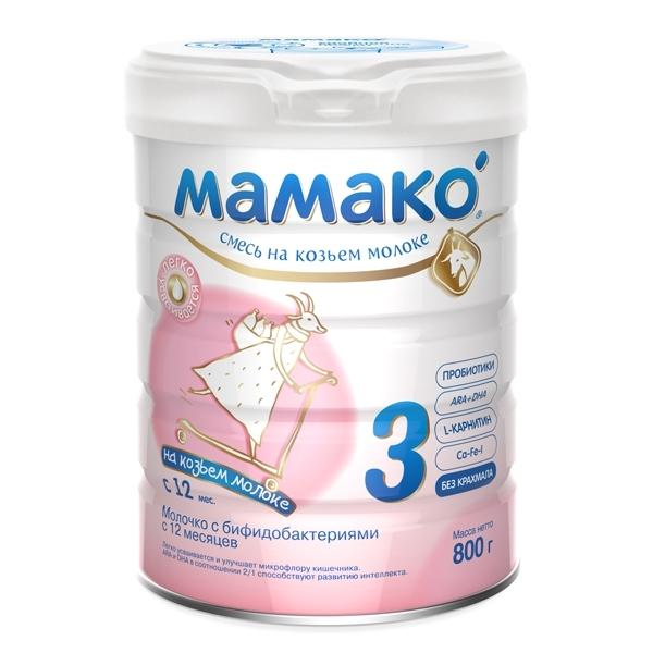 Мамако молочная смесь на основе козьего молока 800 гр № 3 (с 12 мес.)<br>