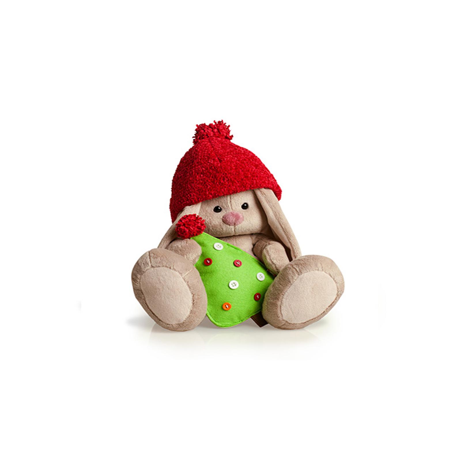 Мягкая игрушка Зайка Ми с елкой 18 см