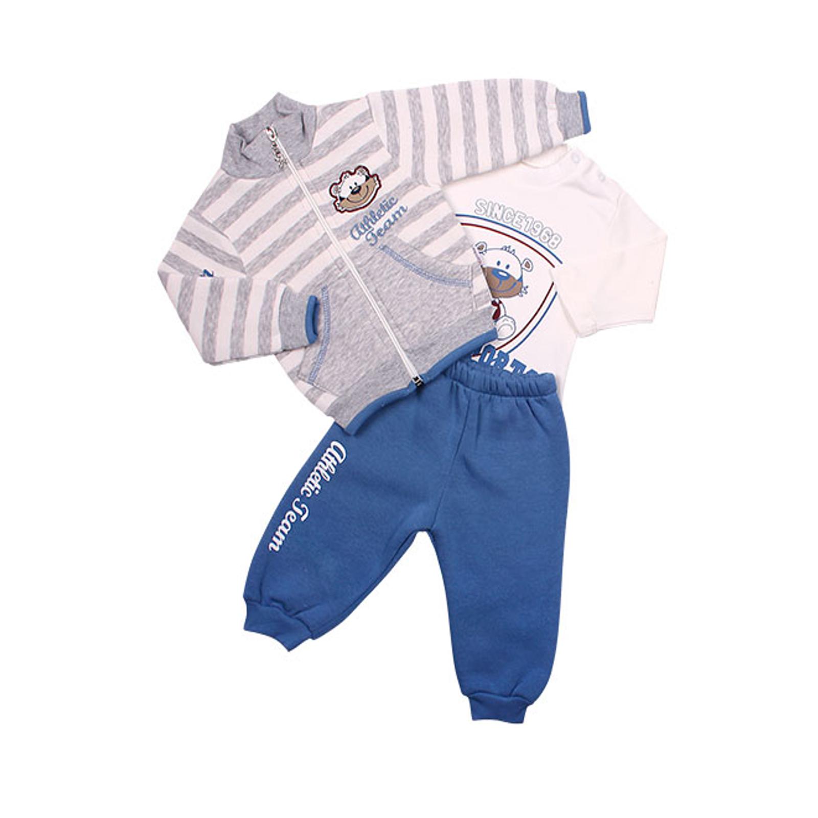 Комплект одежды Estella для мальчика, брюки, толстовка, кофта, цвет - Индиго Размер 68
